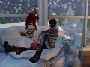 Christmas couples tops
